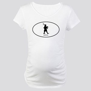 Bagpipes (euro-white) Maternity T-Shirt